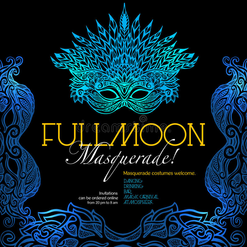 Download Masquerade Ball Poster Stock Vector Illustration Of