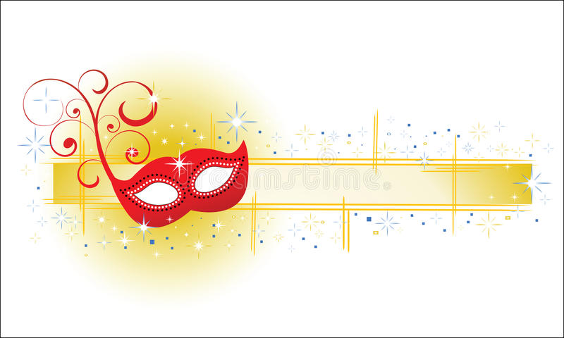 Masquerade Banner. With banner and shining stars copyspace for input