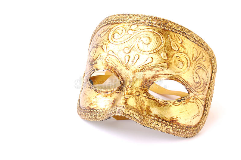 Masquerade mask. Masquerade male mask isolated on a white background royalty free stock images