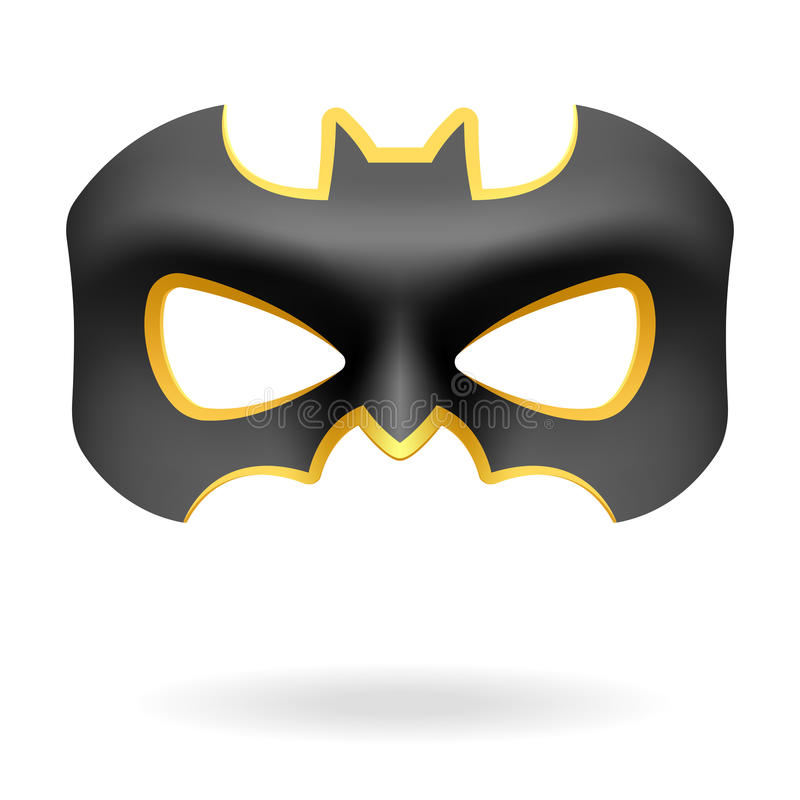 Masquerade mask. Vector illustration of a Batman mask