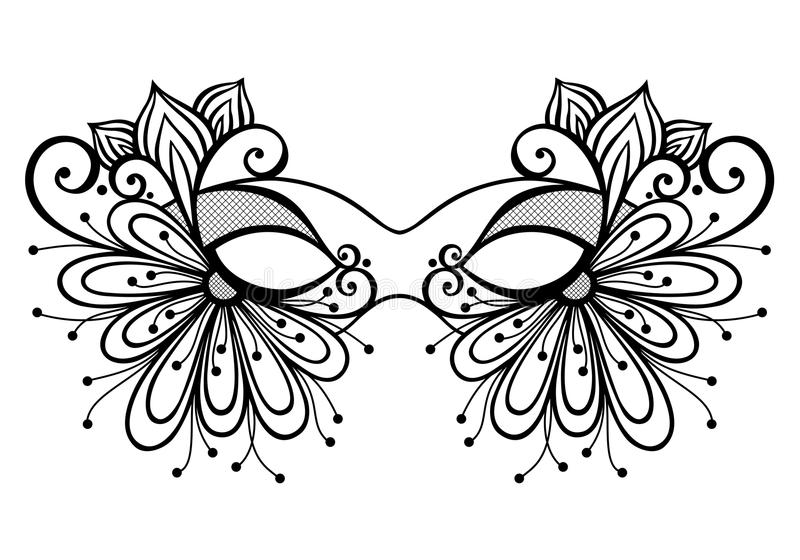 Masquerade Mask stock illustration