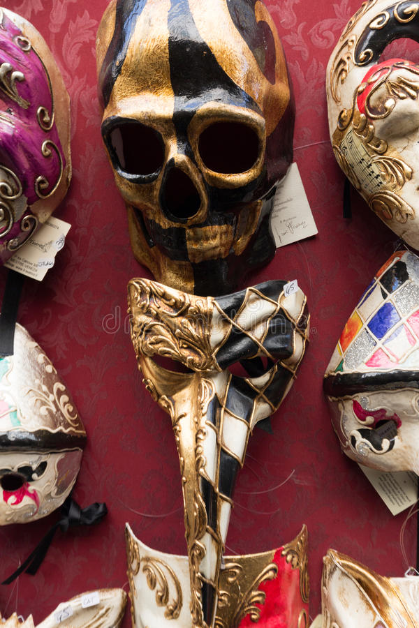 Masquerade Masks. For sale in Venice, Italy royalty free stock images