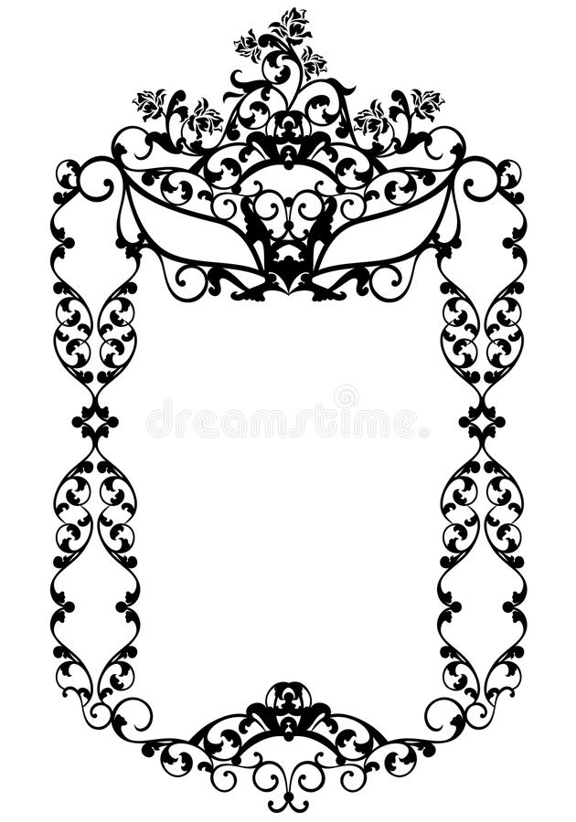 Download Masquerade Party Frame Vector Design With Carnival Mask Among Stock