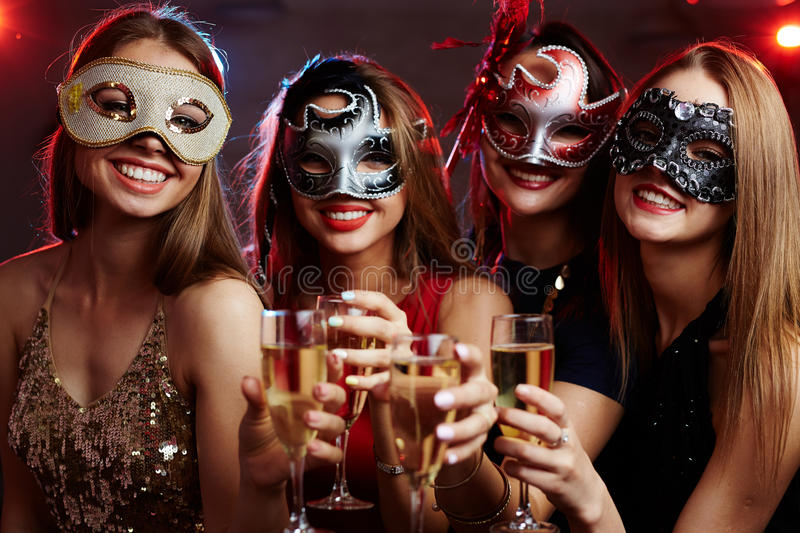 Masquerade party royalty free stock photography