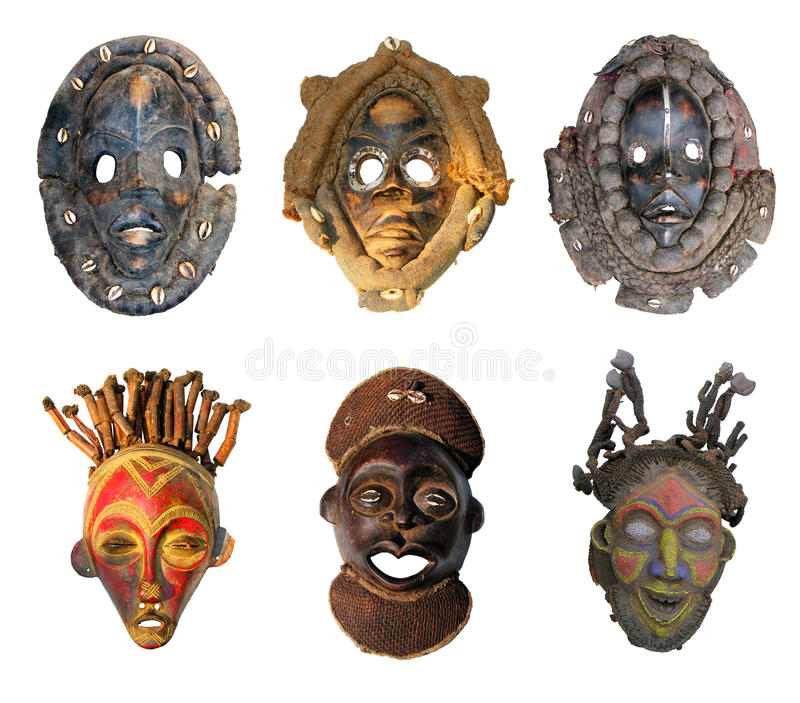 Masques africains photographie stock libre de droits