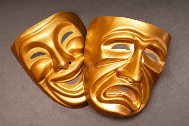 Masques avec le concept de théâtre photos libres de droits