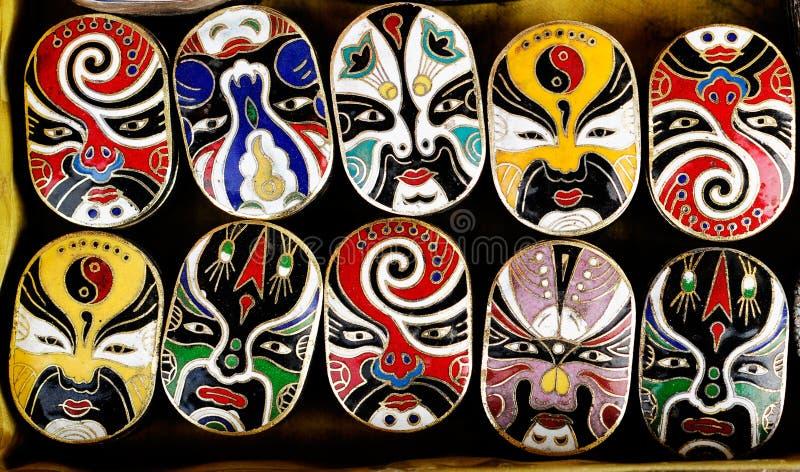 Masques d'opéra de Pékin image libre de droits