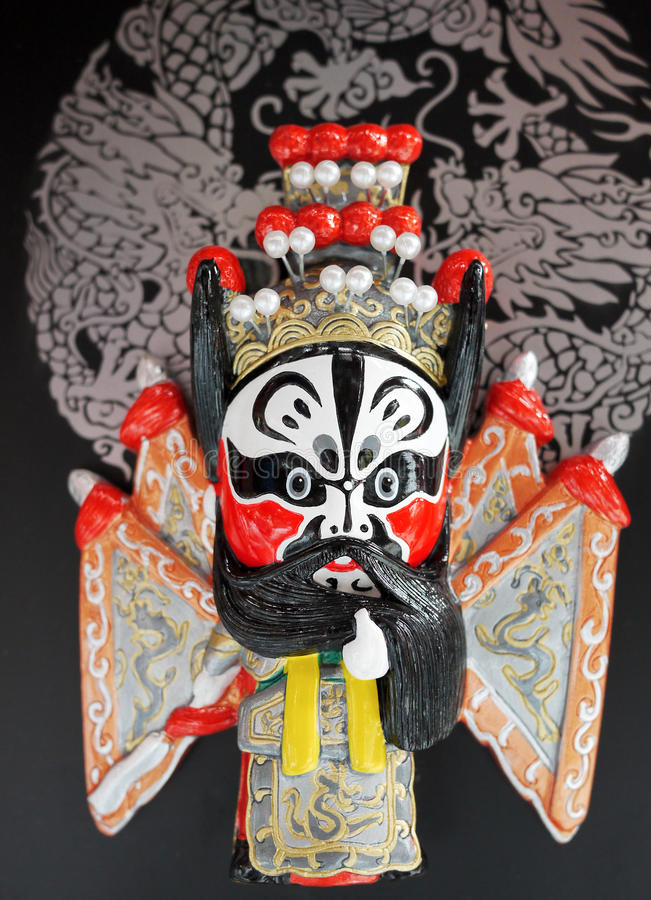 masques d'opéra de Pékin de porcelaine photographie stock libre de droits