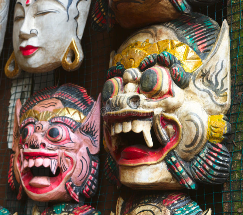Masques de Balinese images stock