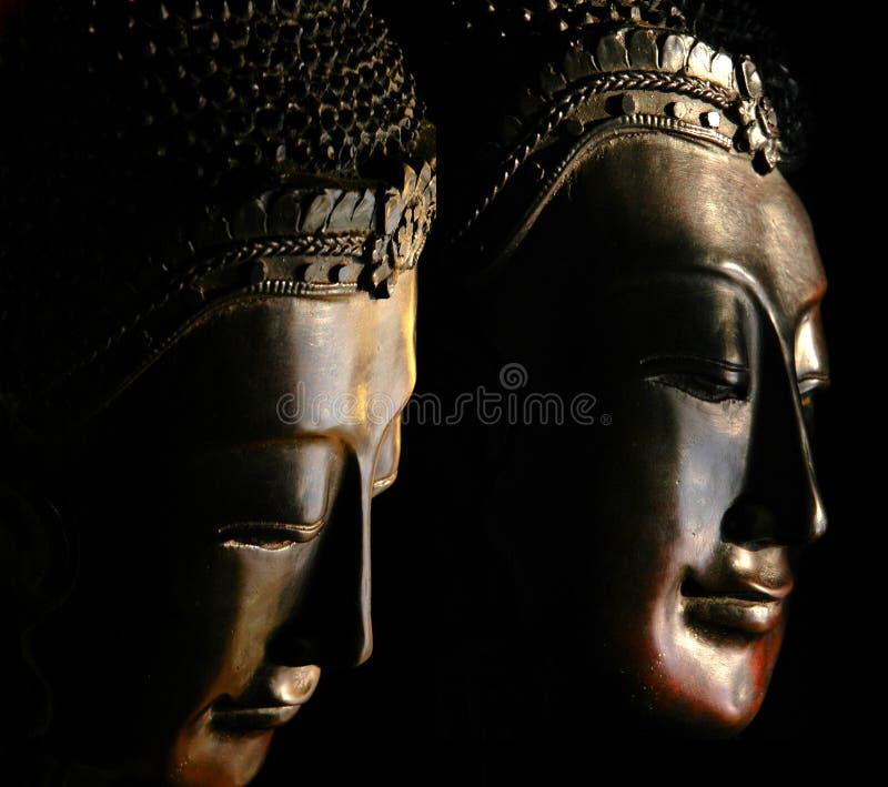 Masques de Bouddha photographie stock libre de droits