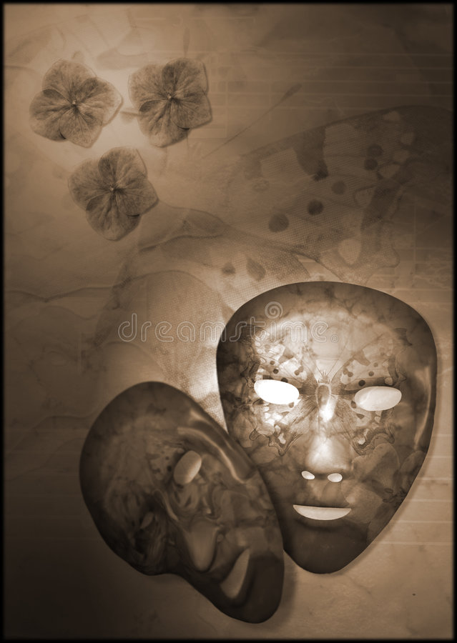 Masques de guindineau image stock