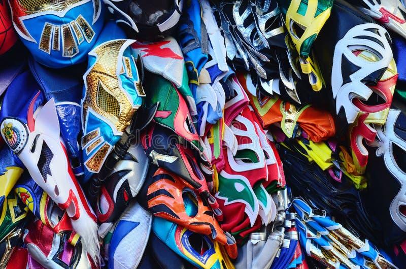 Masques de lutte Lucha Libre photographie stock