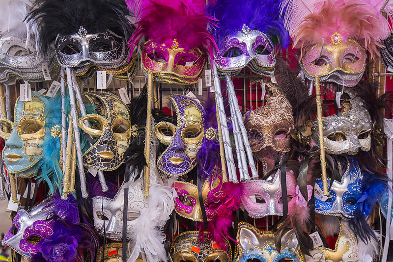 Masques de Mardis Gras photographie stock libre de droits