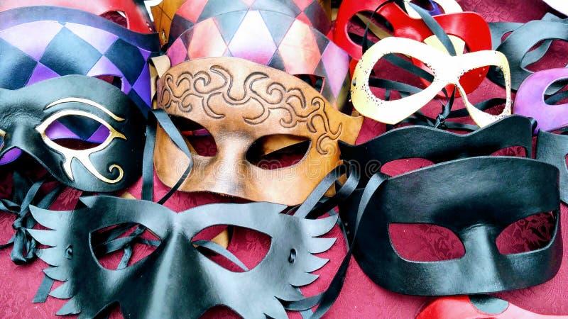 Masques de pantomime de vintage image libre de droits