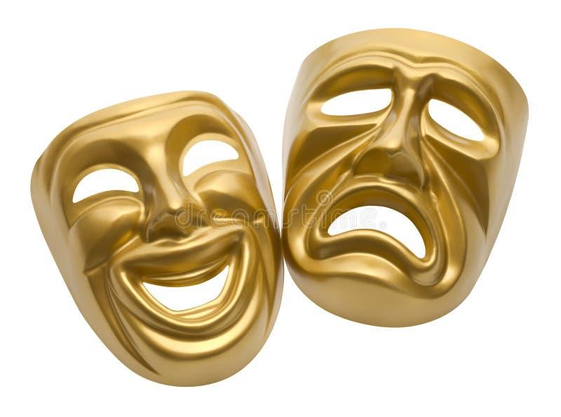 Masques de théâtre illustration de vecteur