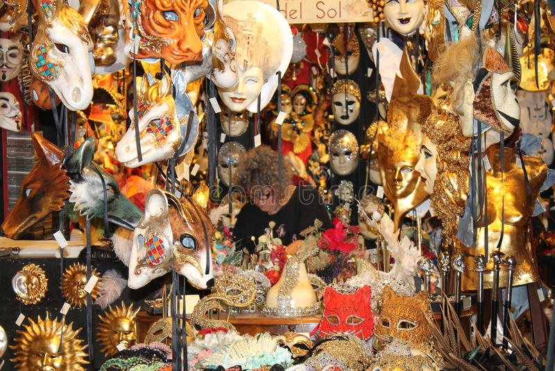 Masques de Venise images stock