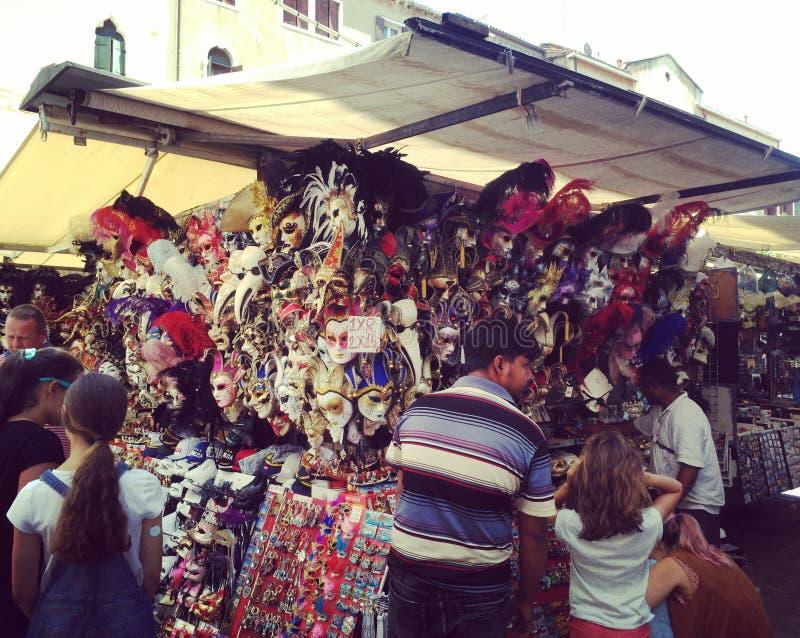Masques de Venise images libres de droits