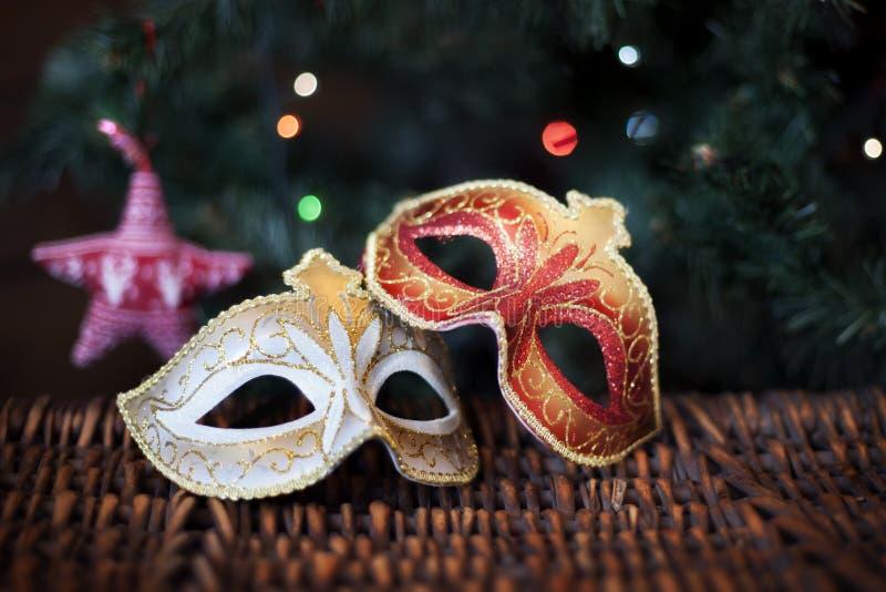 Masques du ` s de nouvelle année image stock