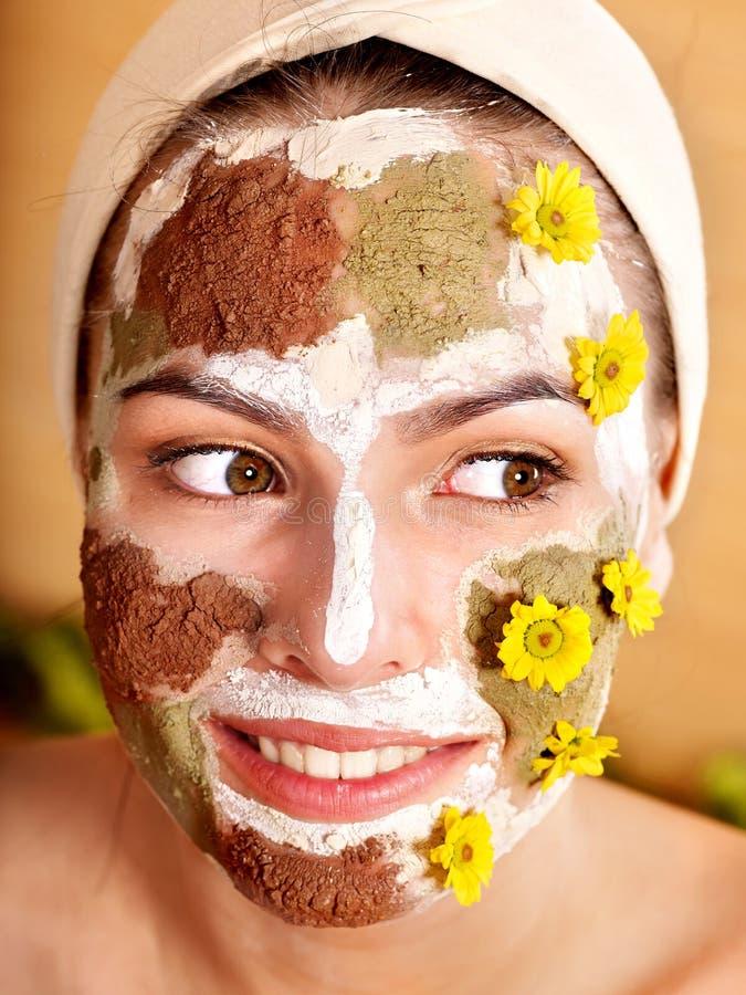 Masques faits maison normaux de massage facial d'argile. photos stock