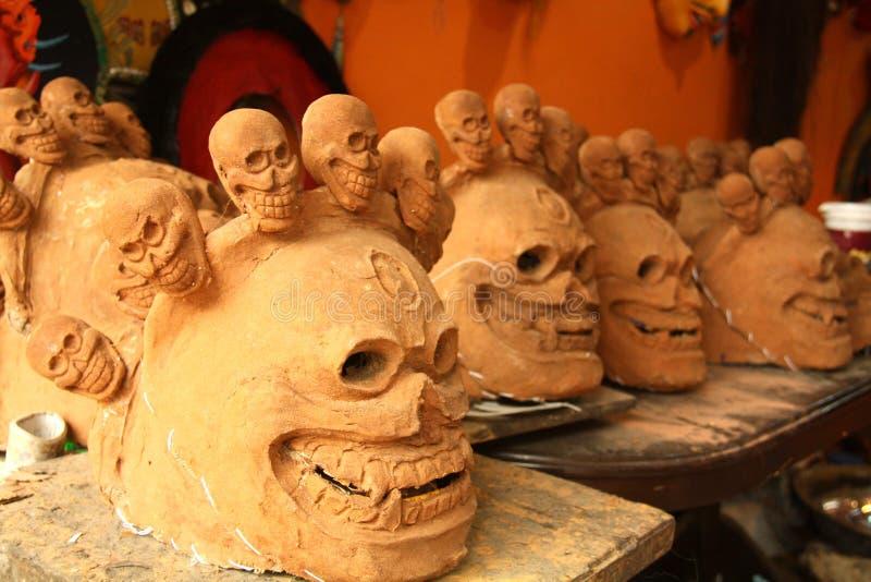 Masques népalais traditionnels images libres de droits