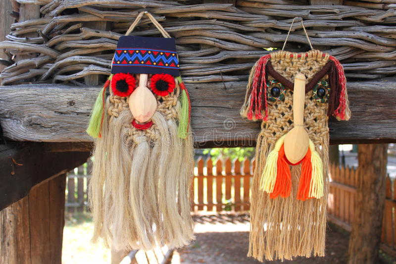 Masques roumains traditionnels photo stock