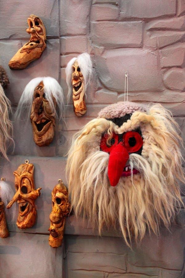 Masques roumains traditionnels photo libre de droits
