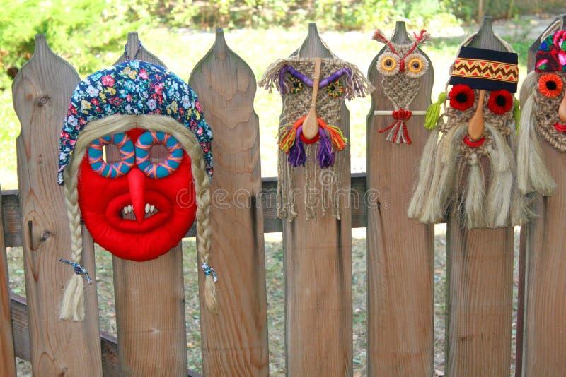 Masques roumains traditionnels photos libres de droits