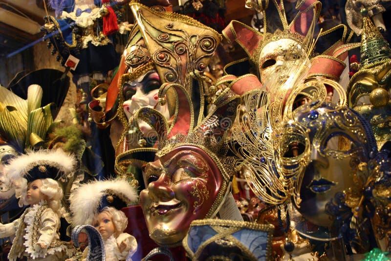 Masques vénitiens images libres de droits