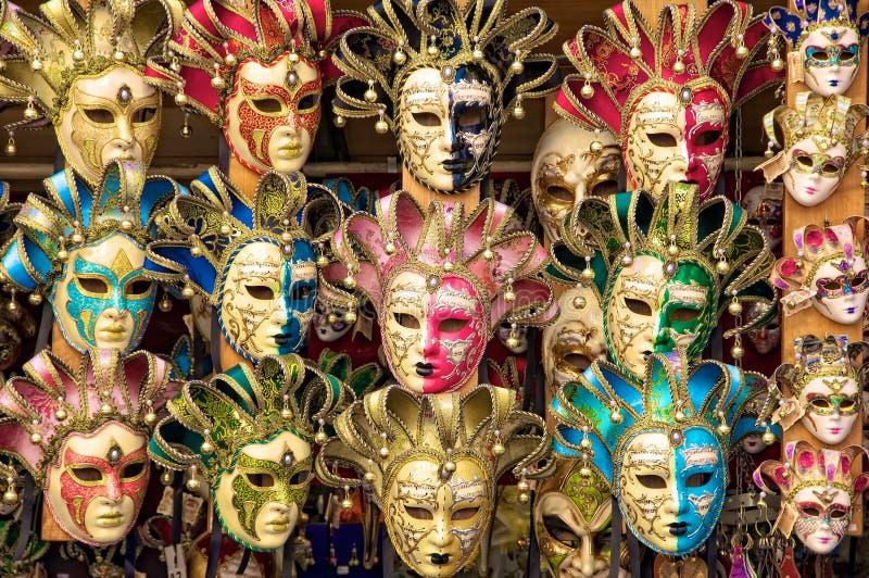 Masques (vénitiens) italiens de carnaval image libre de droits