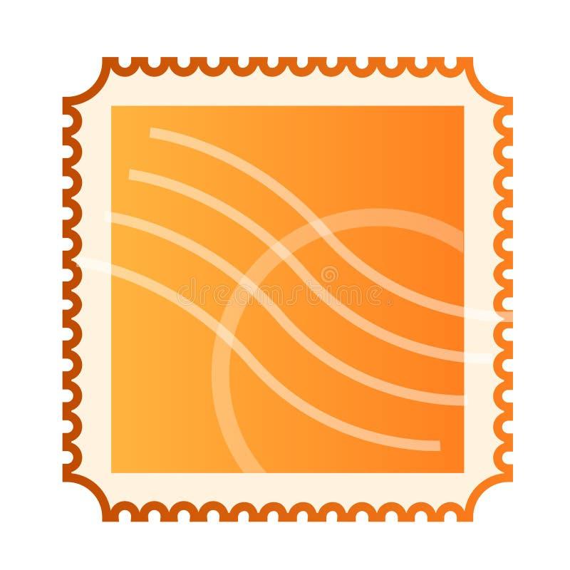 Masquez l'estampille de courrier d'isolement illustration de vecteur