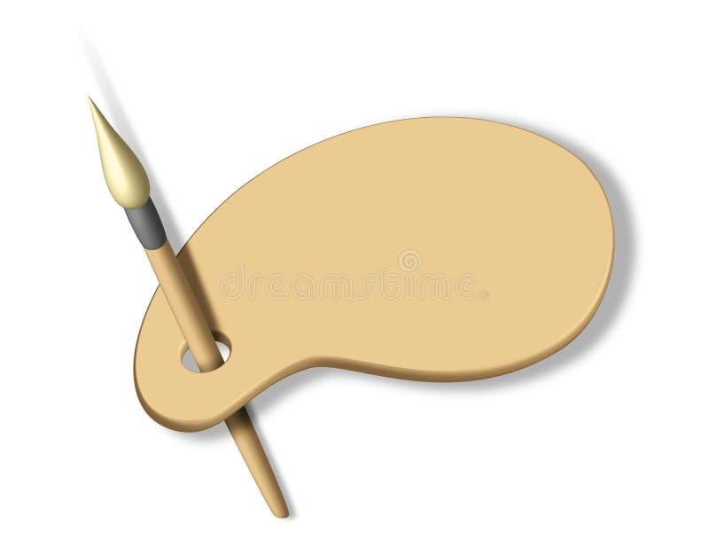 Masquez la palette d'artiste illustration de vecteur