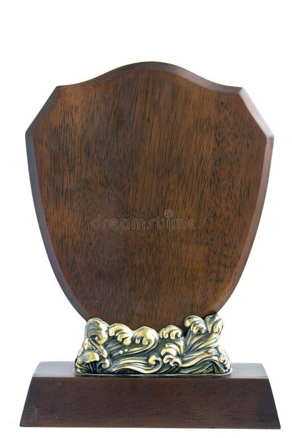 Masquez la plaque en bois d'isolement photos libres de droits