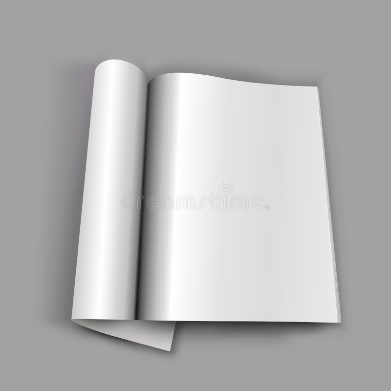 Masquez la revue ouverte illustration de vecteur