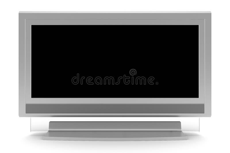 masquez le blanc d'isolement de l'écran TV d'affichage à cristaux liquides image libre de droits