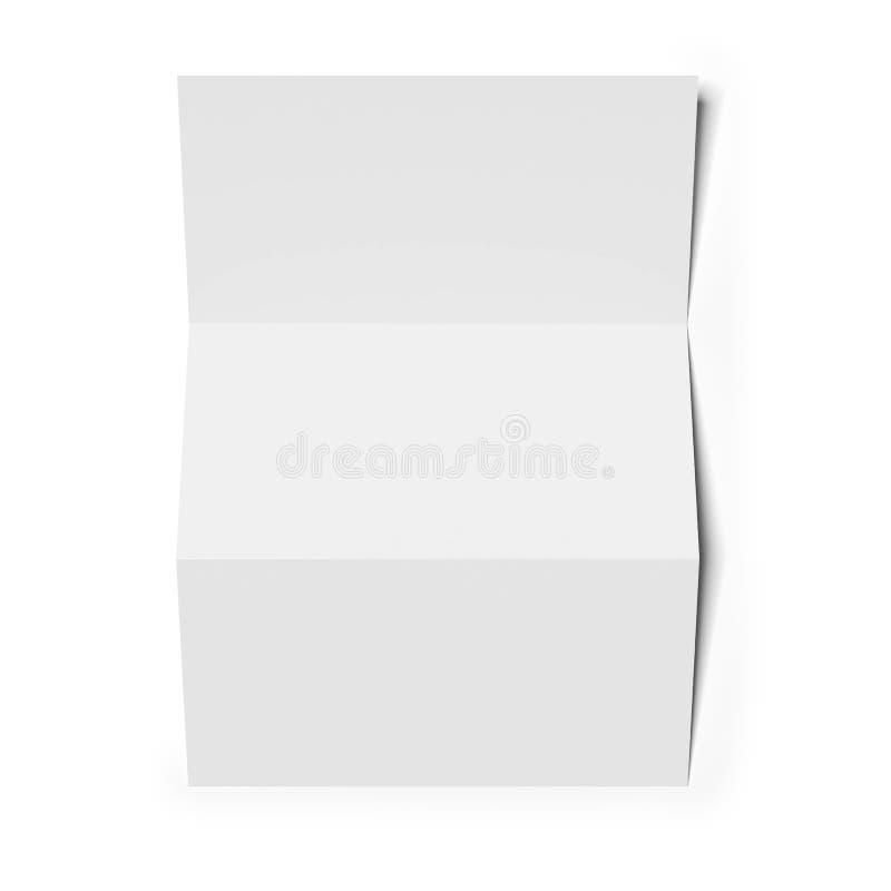 Masquez le papier plié illustration de vecteur