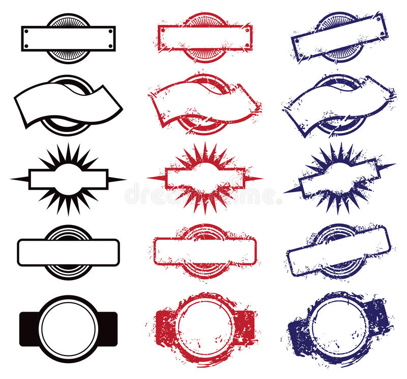 Masquez les timbres illustration de vecteur