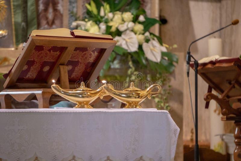 Mass altar book. Close up stock photo
