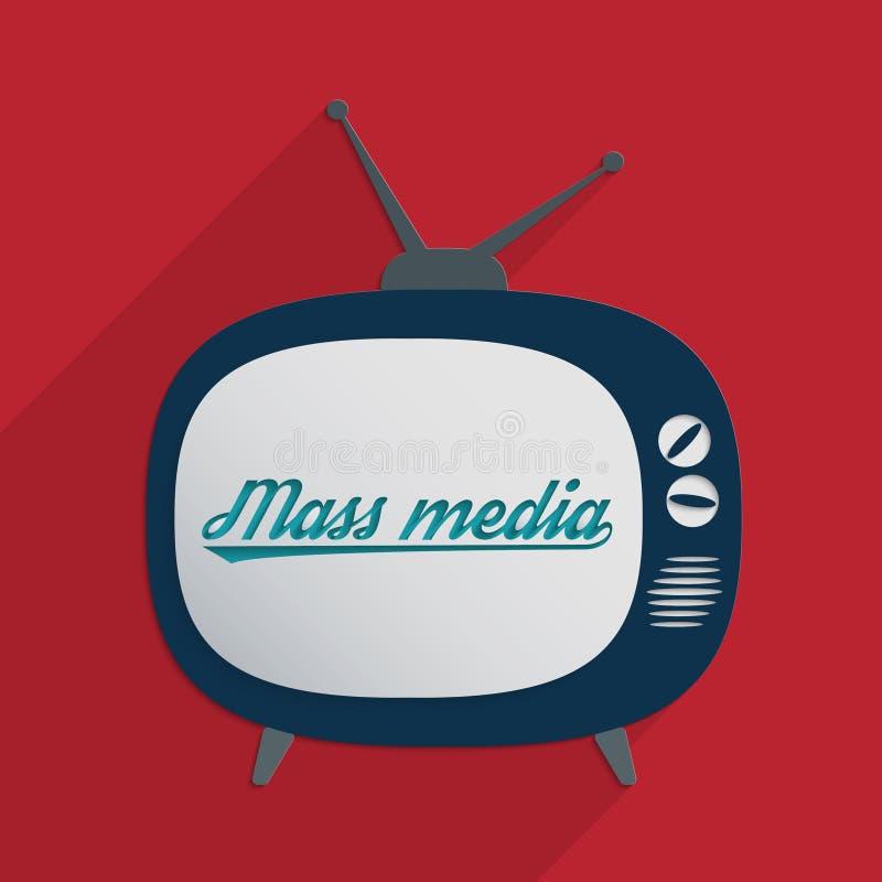 Mass media. Concept for advertising industry, marketing and mass media. Flat design illustration royalty free illustration