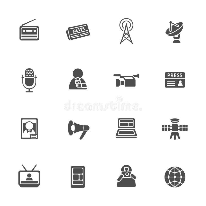 Mass media icon set. Vector Illustration royalty free illustration
