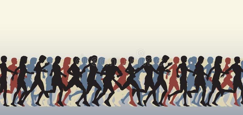 Download Mass runners stock vector. Illustration of team, illustration - 15952092