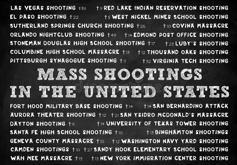 Mass shootings in the United States. Of America royalty free stock image