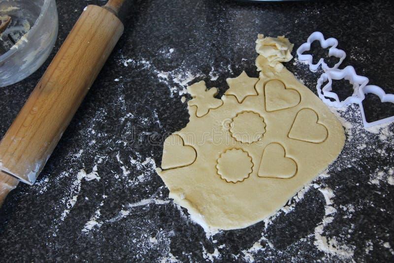 Massa caseiro do biscoito amanteigado foto de stock royalty free