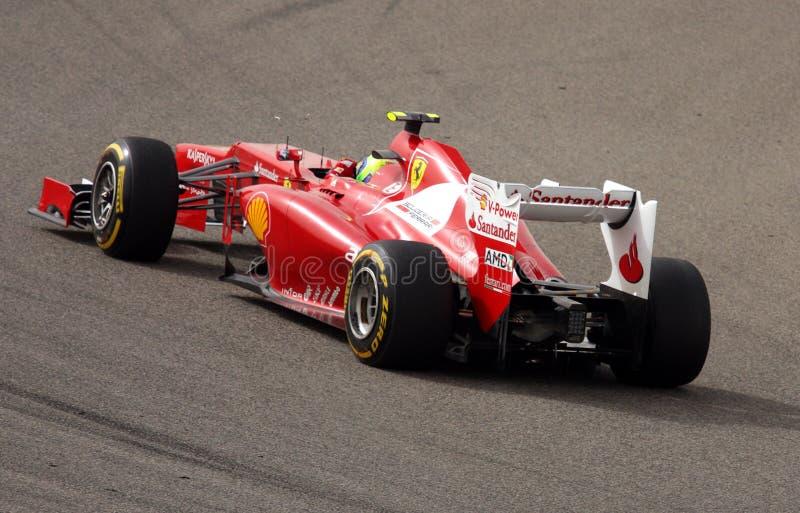 Massa de Ferrari emballant dans F1 le 20 avril 2012 images libres de droits