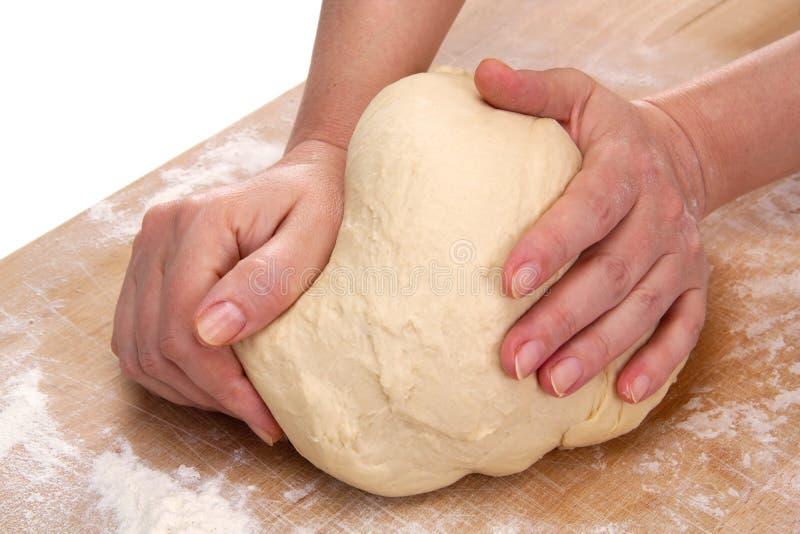 Massa de pão de amasso imagens de stock