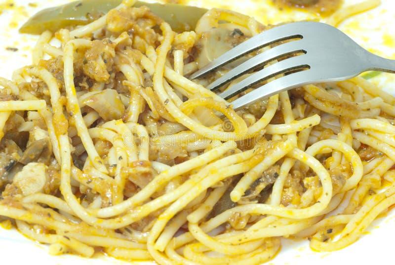 Massa de Spagetti foto de stock