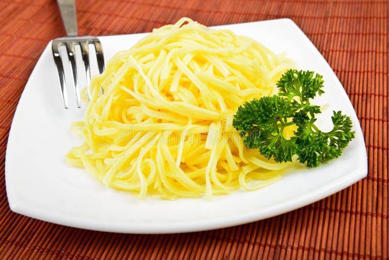 Massa de Spagetti imagem de stock