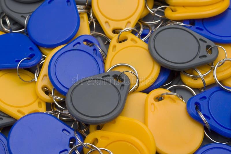 Massa delle chiave-catene del nfc immagini stock