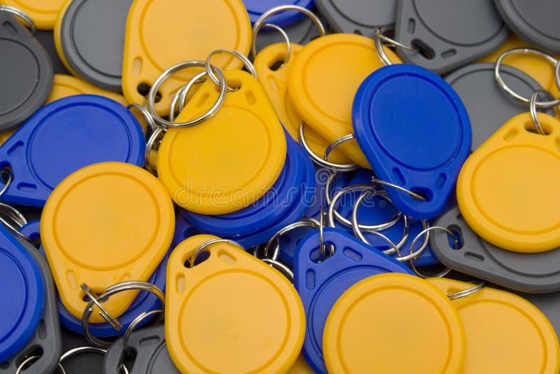 Massa delle chiave-catene del nfc fotografia stock