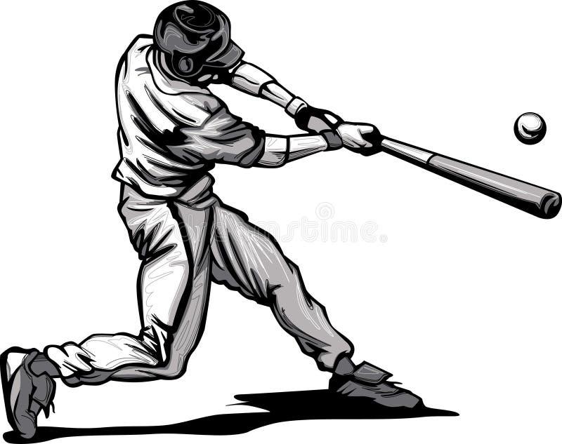Massa do basebol que bate o passo ilustração do vetor