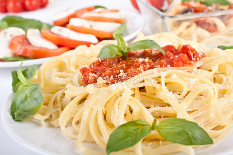 Massa do Linguine fotografia de stock